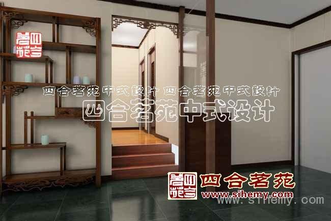 中式走廊设计效果图
